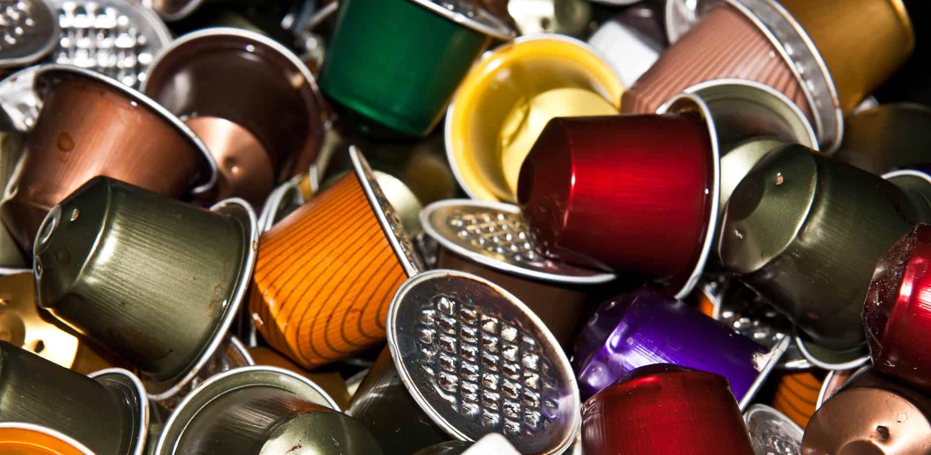 La quantité de déchets causée par les capsules de café